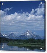 Grand Tetons In Spring Acrylic Print