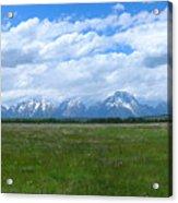 Grand Tetons Meadow Panarama Acrylic Print