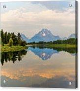 Grand Teton's Reflection Acrylic Print