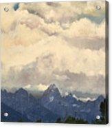 Grand Tetons  Sky Acrylic Print by Suzette Kallen