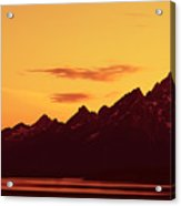 Grand Tetons Sunset Acrylic Print