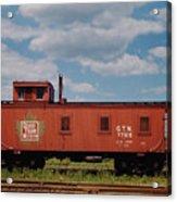 Grand Trunk Railroad Wood Caboose Acrylic Print