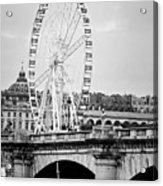 Grande Roue In Paris - Black And White Acrylic Print