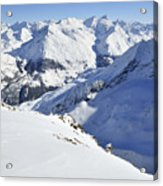 Grande Sassiere And Petite Sassiere Acrylic Print by Andy Smy