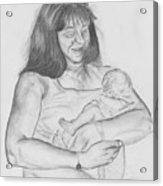 Grandma And Grandchild Acrylic Print