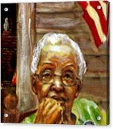 Grandma For Obama Acrylic Print by Gary Williams