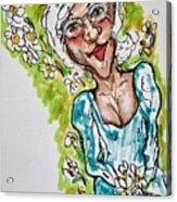 Grandma Hippie Acrylic Print