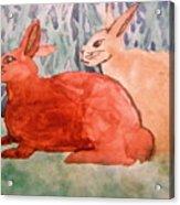 Grandma's Bunnies Acrylic Print