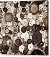 Grandmas Buttons Acrylic Print