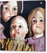 Grandma's Dolls Acrylic Print