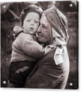Grandmother And Child Acrylic Print