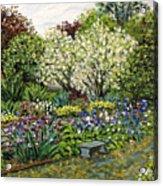 Grandmother's Garden Spring Blossoms Acrylic Print