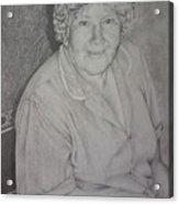 Grandmother's Portrait Acrylic Print