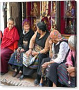 Grandmothers' Talk After Morning Prayer Acrylic Print