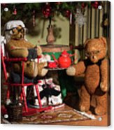 Grandpa And Grandma Teddy Bears' Christmas Eve Acrylic Print