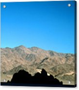 Grandstand At Racetrack Playa Death Valley Acrylic Print
