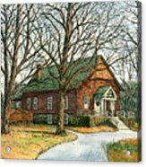 Grange Hall No.44 Acrylic Print by Elaine Farmer