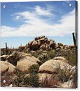 Granite Boulders And Saguaros  Acrylic Print