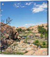Granite Dells Rocky Terrain  Acrylic Print