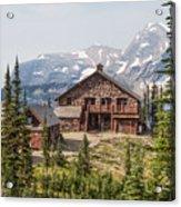 Granite Park Chalet And Heaven's Peak 3 Acrylic Print