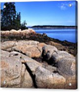 Granite Shoreline Deer Isle Maine Acrylic Print
