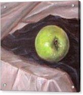 Granny Apple On Velvet And Satin - Sold Acrylic Print