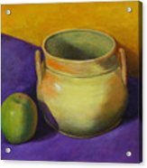 Granny Smith And The Yellow Pot Acrylic Print
