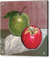 Granny Smith With Pink Lady Acrylic Print