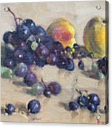 Grape And Peach Acrylic Print