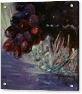 Grapes And Glass Acrylic Print
