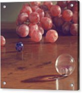 Grapes And Marbles Acrylic Print by Barbara Groff