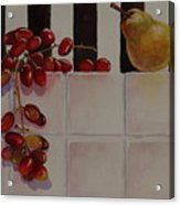 Grapes And Pear Acrylic Print