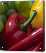 Grapes And Pepper Acrylic Print