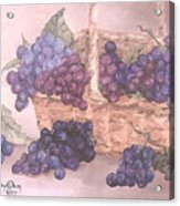 Grapes In Basket Acrylic Print