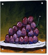Grapes On A White Plate Acrylic Print