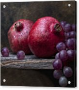 Grapes With Pomegranates Acrylic Print