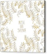 Graphic Art Rise And Shine - Gold And Marble Acrylic Print