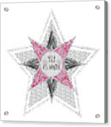 Graphic Art Silver - Yay It's Winter - Pink Acrylic Print