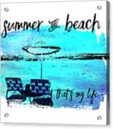 Graphic Art Summer And Beach Acrylic Print