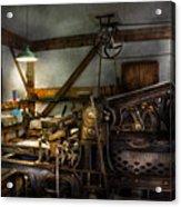 Graphic Artist - Master Press Acrylic Print