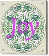 Graphic Designs Button Joy Acrylic Print