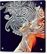 Graphism For Nefertiti Acrylic Print by Paulo Zerbato