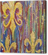 Gras De Lis Acrylic Print by Made by Marley