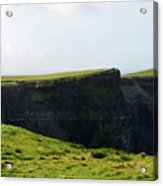 Grass Fields Surrounding The Cliff's Of Moher Acrylic Print