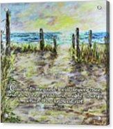 Grassy Beach Post Morning 2 Jeremiah 33 Acrylic Print