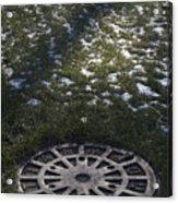 Grassy Manhole Acrylic Print