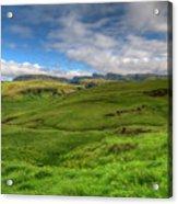 Grassy Meadow South Iceland Acrylic Print