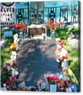 Grave Site At Graceland The Home Of Elvis Presley, Memphis, Tennessee Acrylic Print