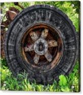 Gravel Pit Goodyear Truck Tire Acrylic Print