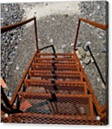 Gravel Pit Grinder Rusty Staircase Acrylic Print